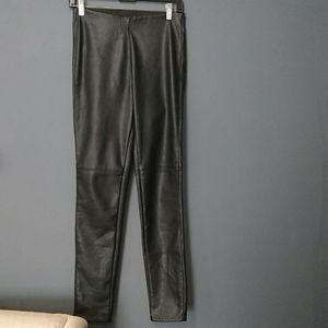 Divided faux leather stretch pants size 8